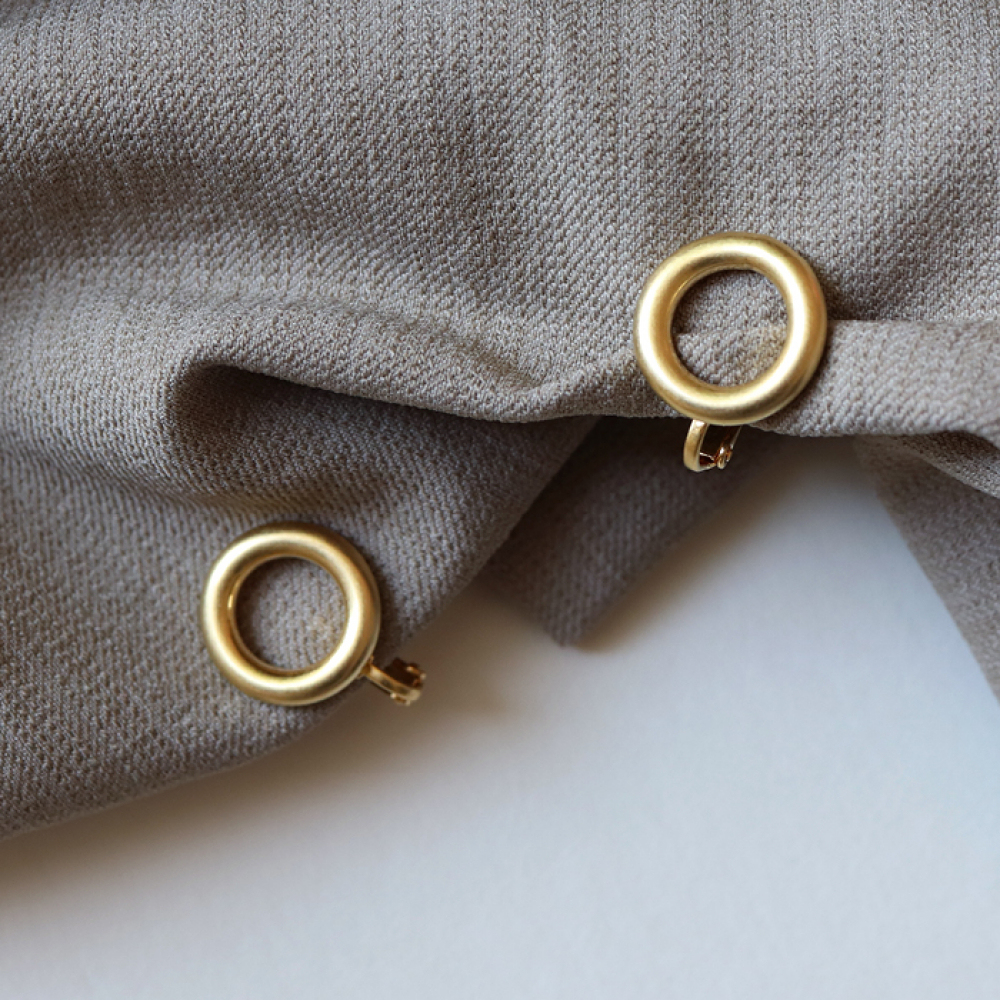[엘리오나] Doughnut Clip Earrings Earcuff