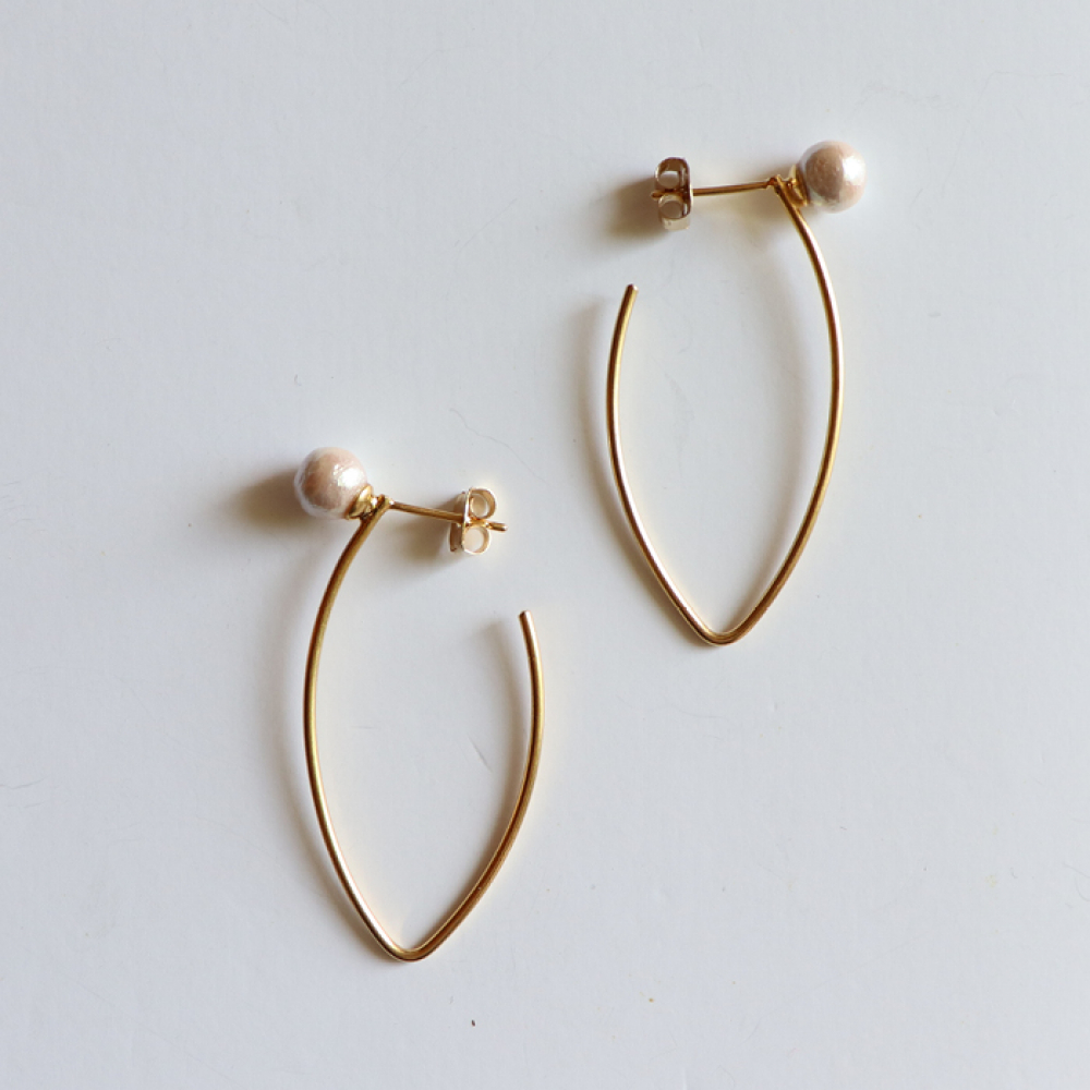 [엘리오나] Moon Shine drop Earrings