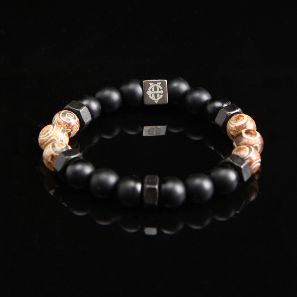 [에잇볼륨] EV Nut Bead Bracelet(Brown)