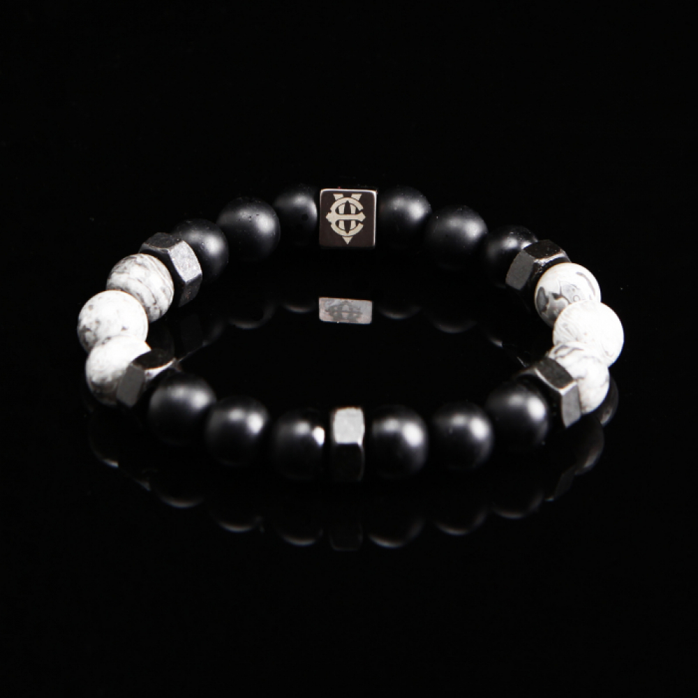 [에잇볼륨] EV Nut Bead Bracelet(Gray)