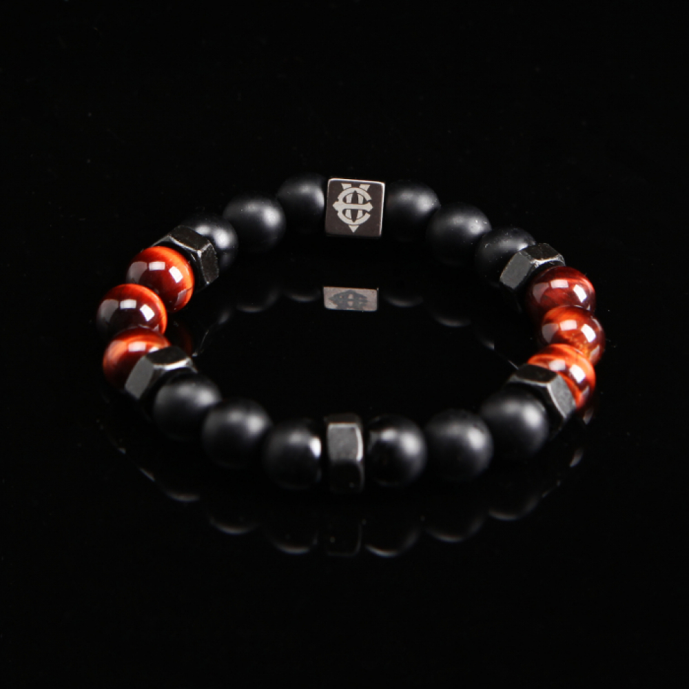 [에잇볼륨] EV Nut Bead Bracelet(Red)