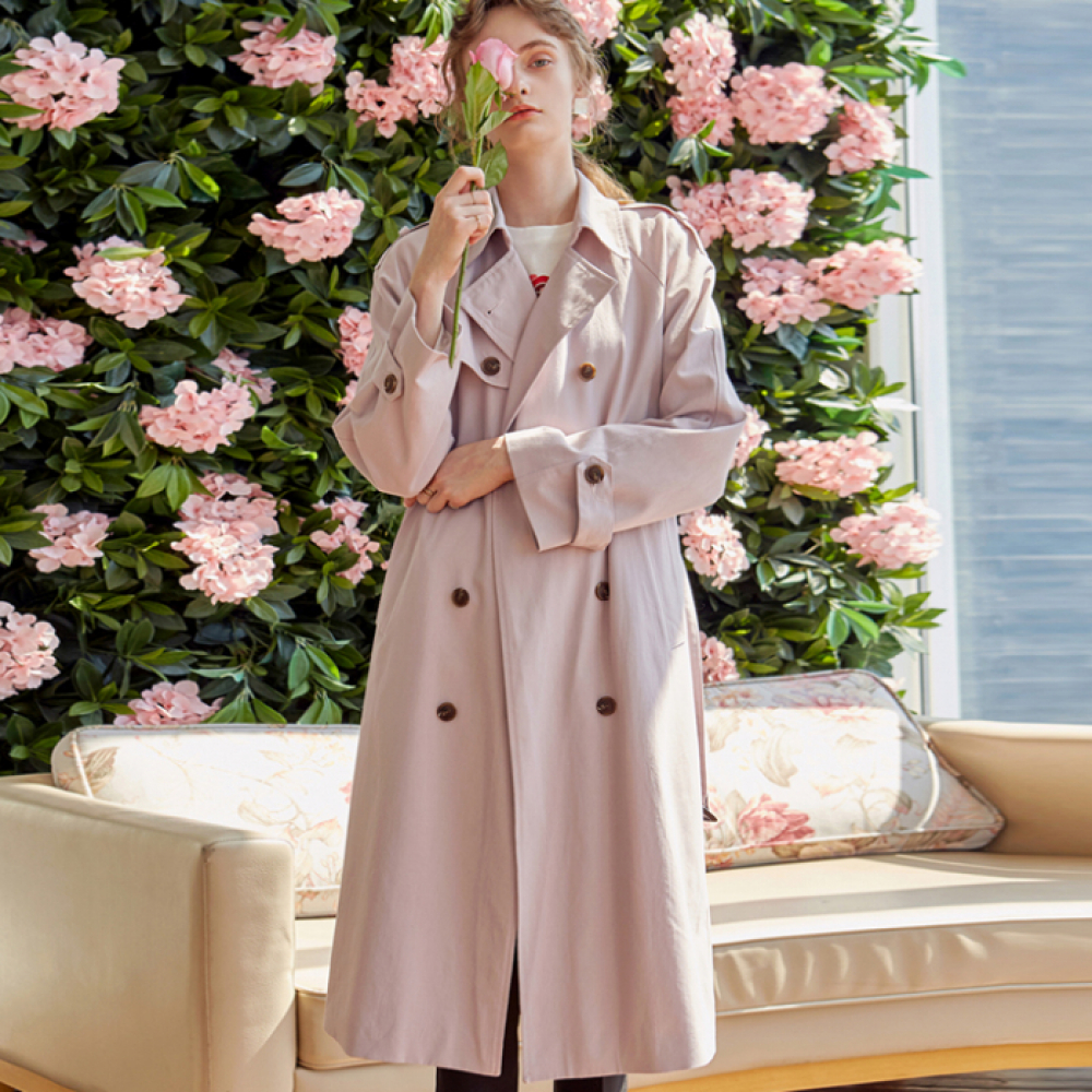 [YAN13] DOUBLE LONG TRENCH COAT_LIGHT PINK
