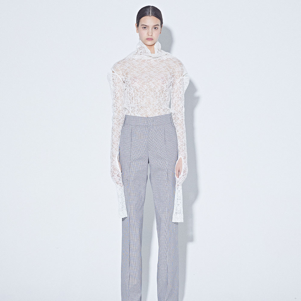 [MUSEE] Mid-rise gingham pants