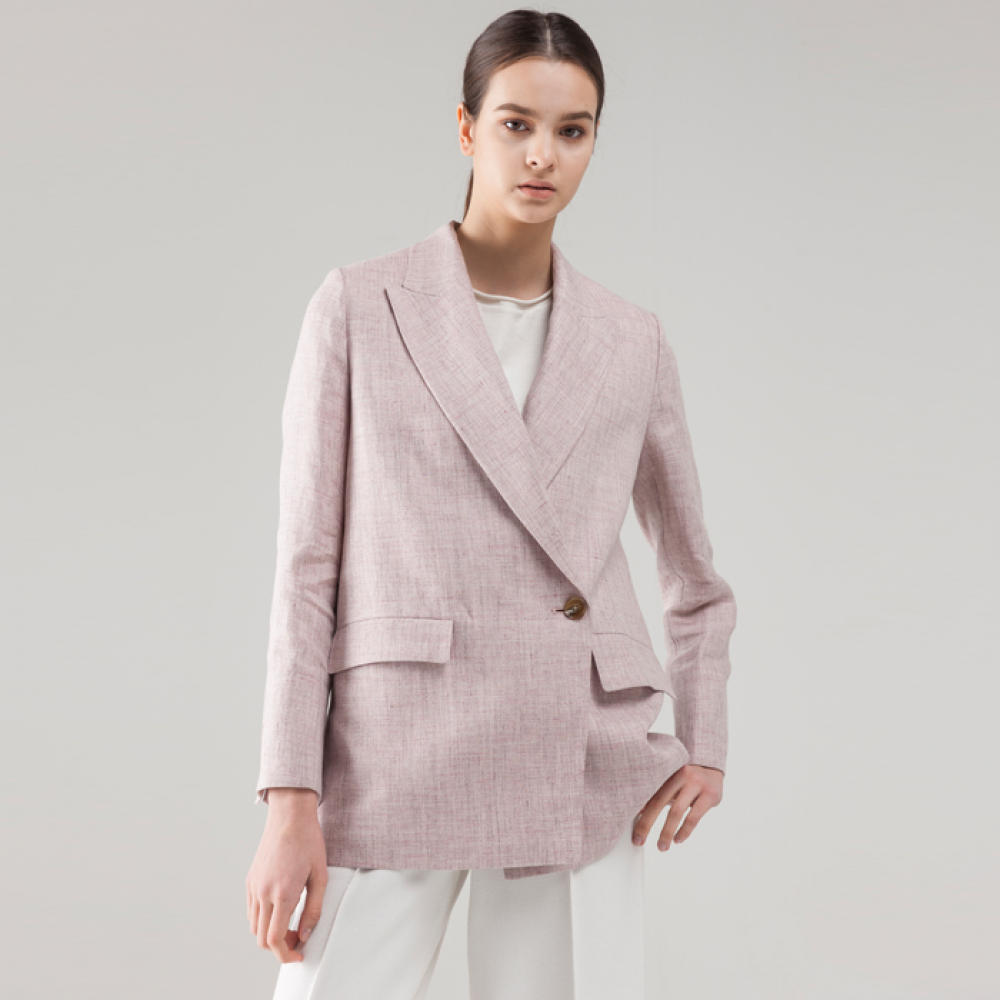 LINEN DOUBLE BREASTED DOUBLE JACKET [BPK]