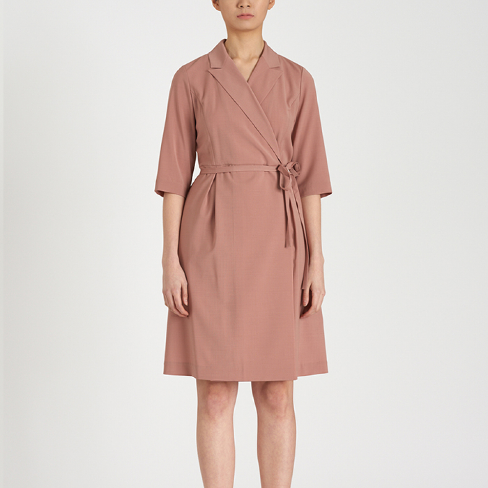 [FREAKS KIMTAEHOON] Summer Wool Formal Wrap Dress