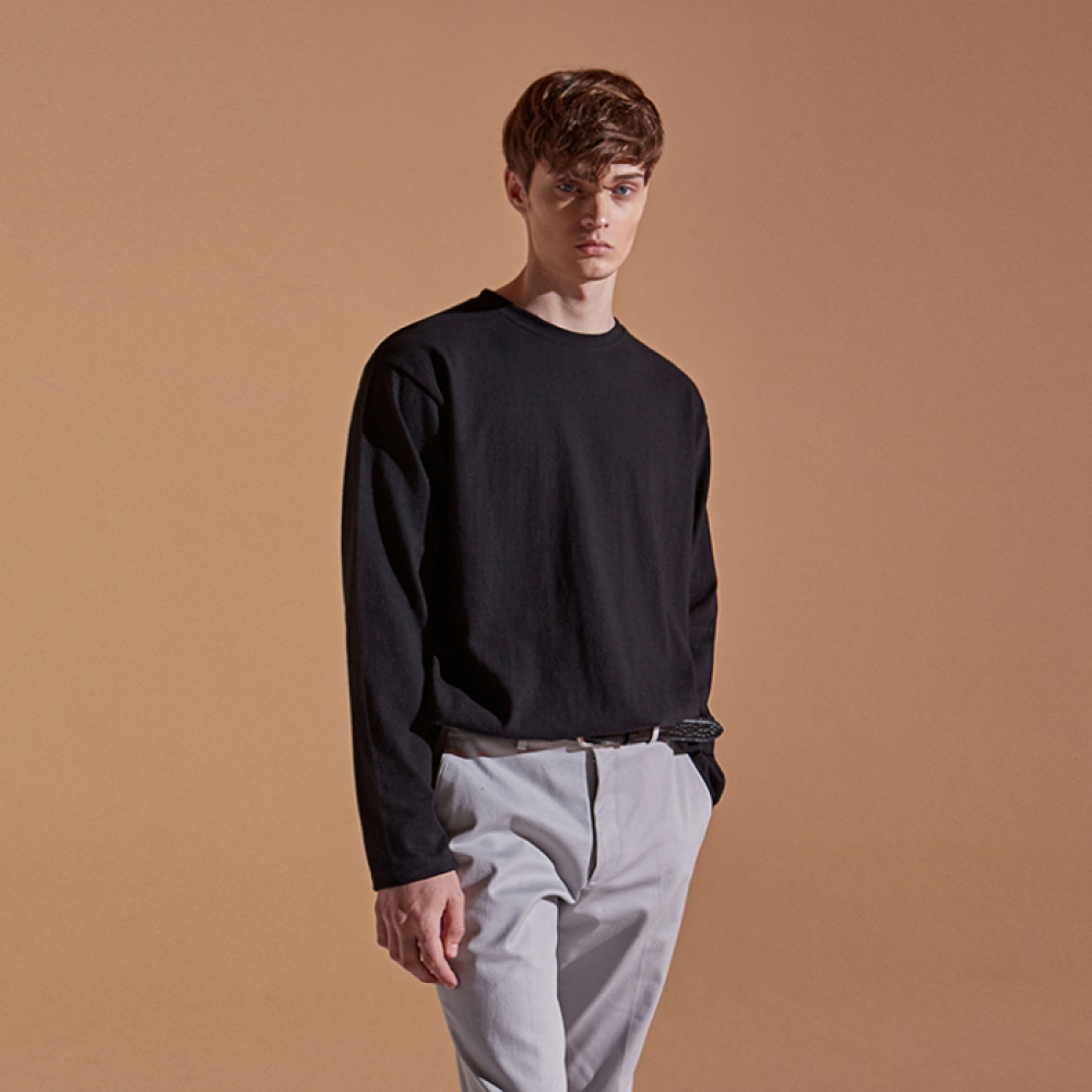 [DEANS] BULKY LONG T-SHIRTS_BLACK