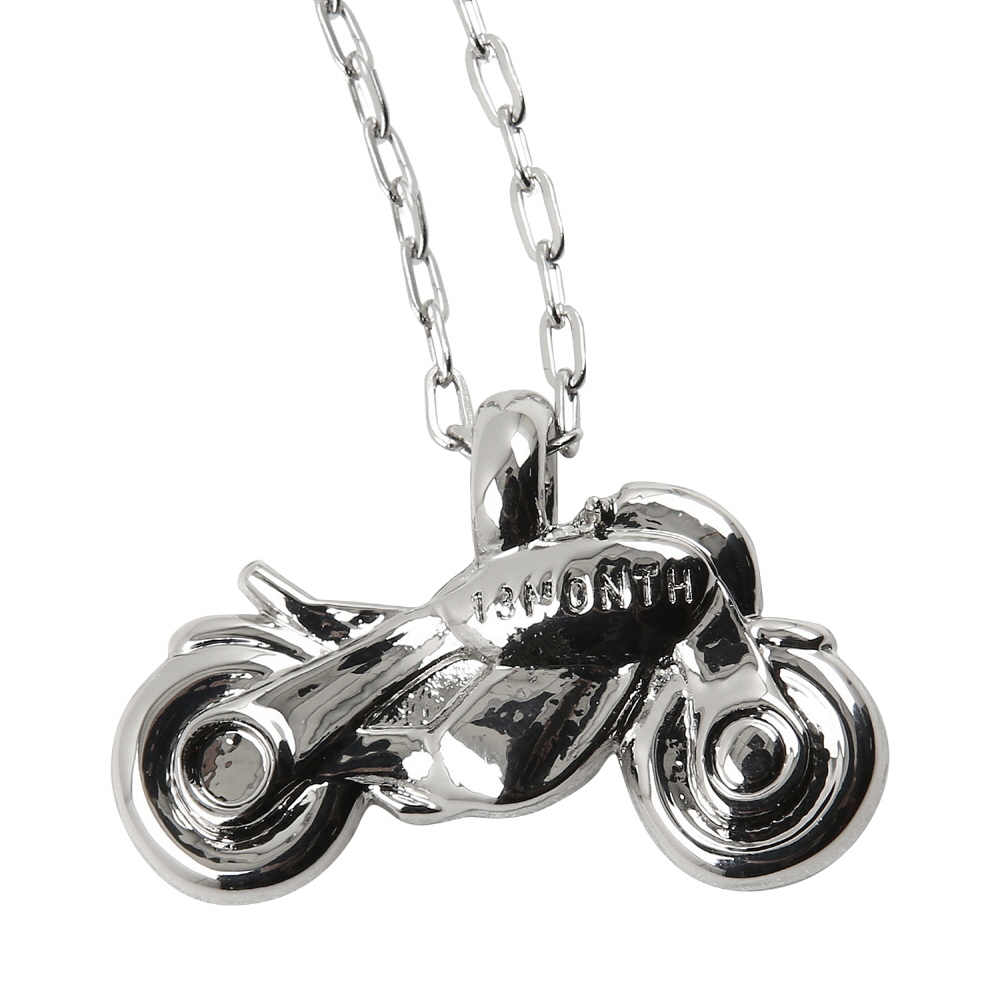 [써틴먼스] 13MONTH X BUWON BIKE NECKLACE (SILVER)