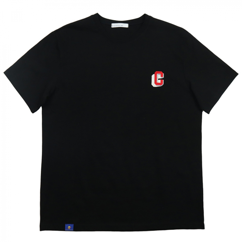 [COMSPACE1980] Point Number T-Shirt BLACK