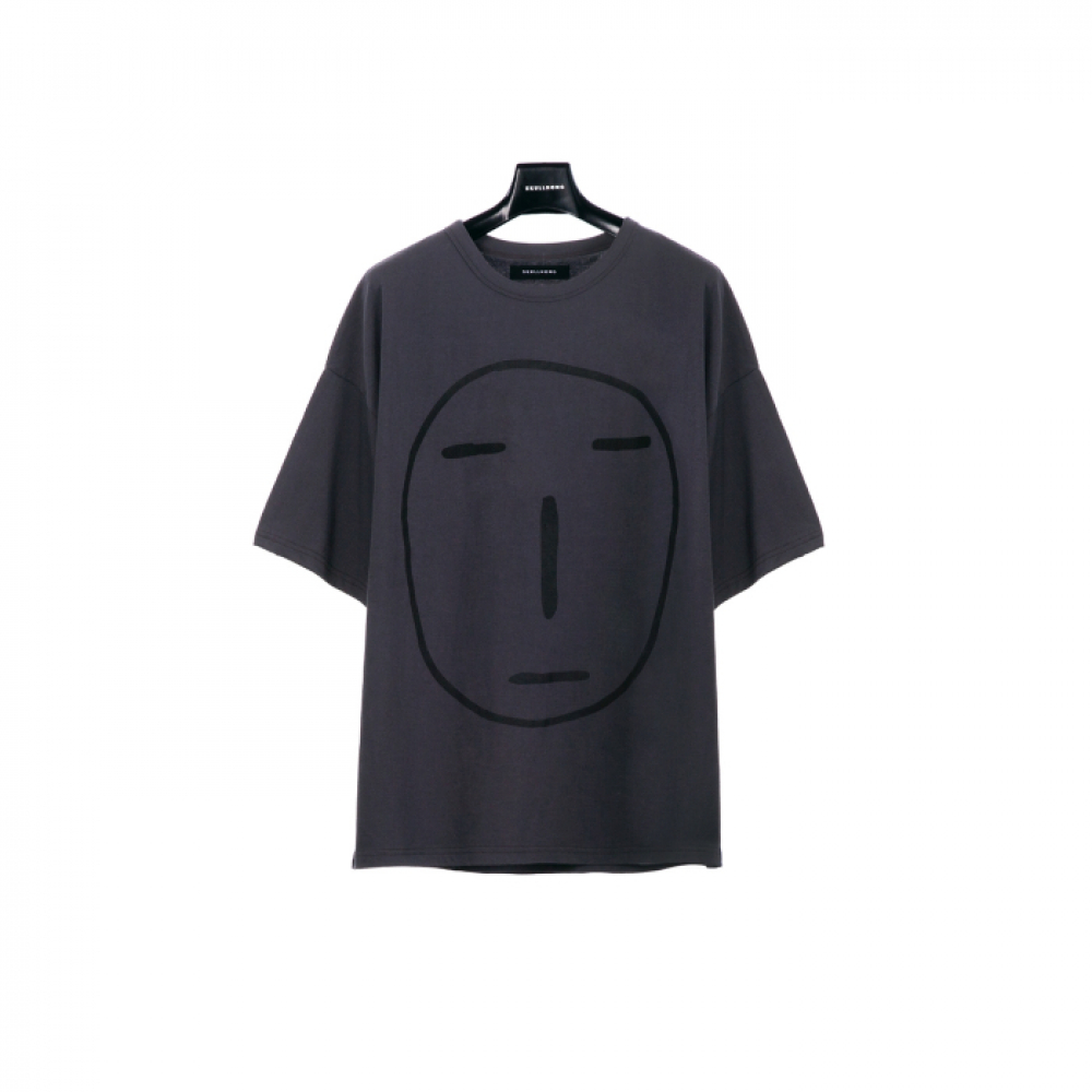 [스컬홍] POKER FACE T-SHIRT (CHARCOAL)