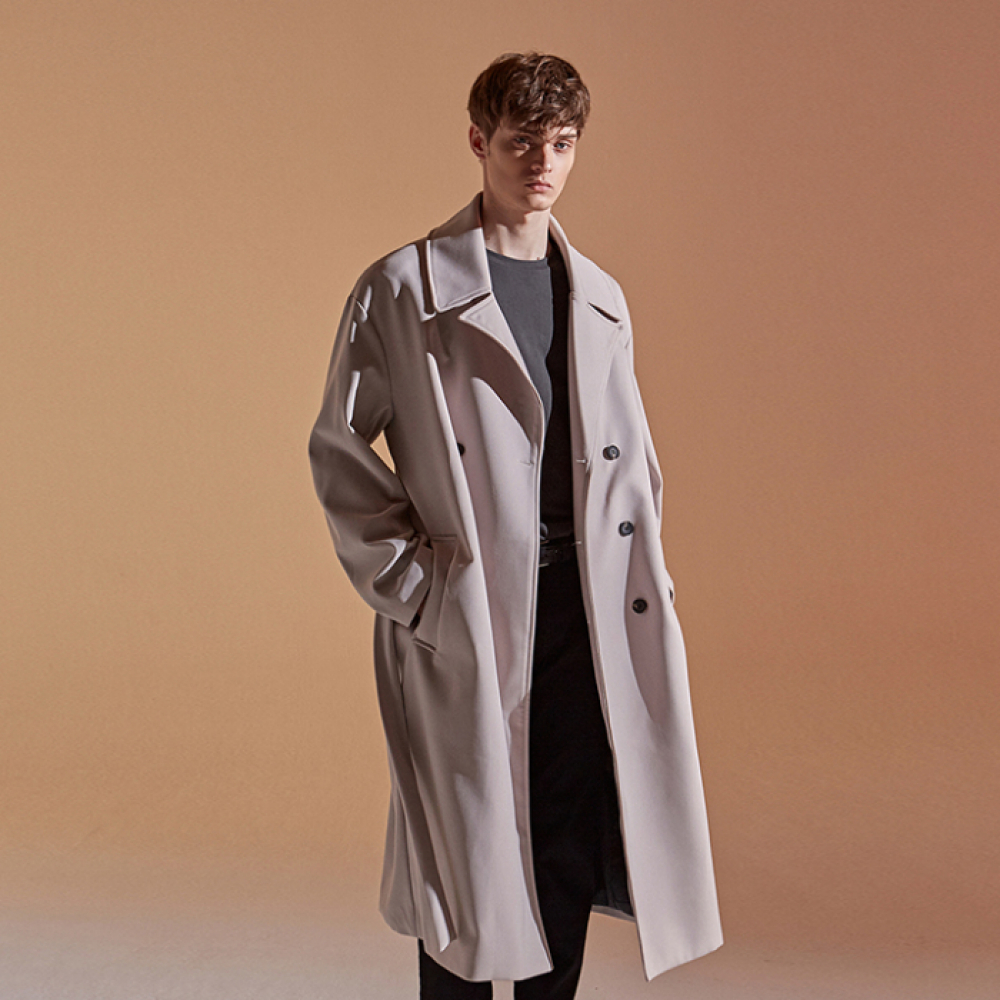 [DEANS] OVER STRAP DOUBLE COAT_CREAM