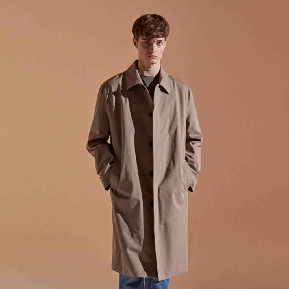 [DEANS] COTTON LONG MAC COAT_MOCA BROWN