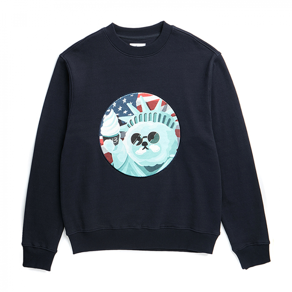 ILP NEW YORK DOG PATCH SWEAT-SHIRTS NAVY