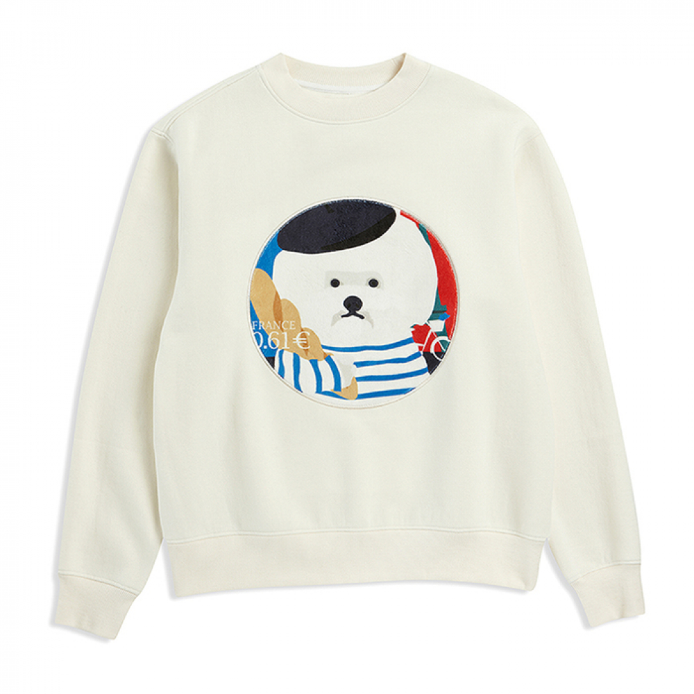 PARIS DOG PATCH S-S 2019VER IVORY