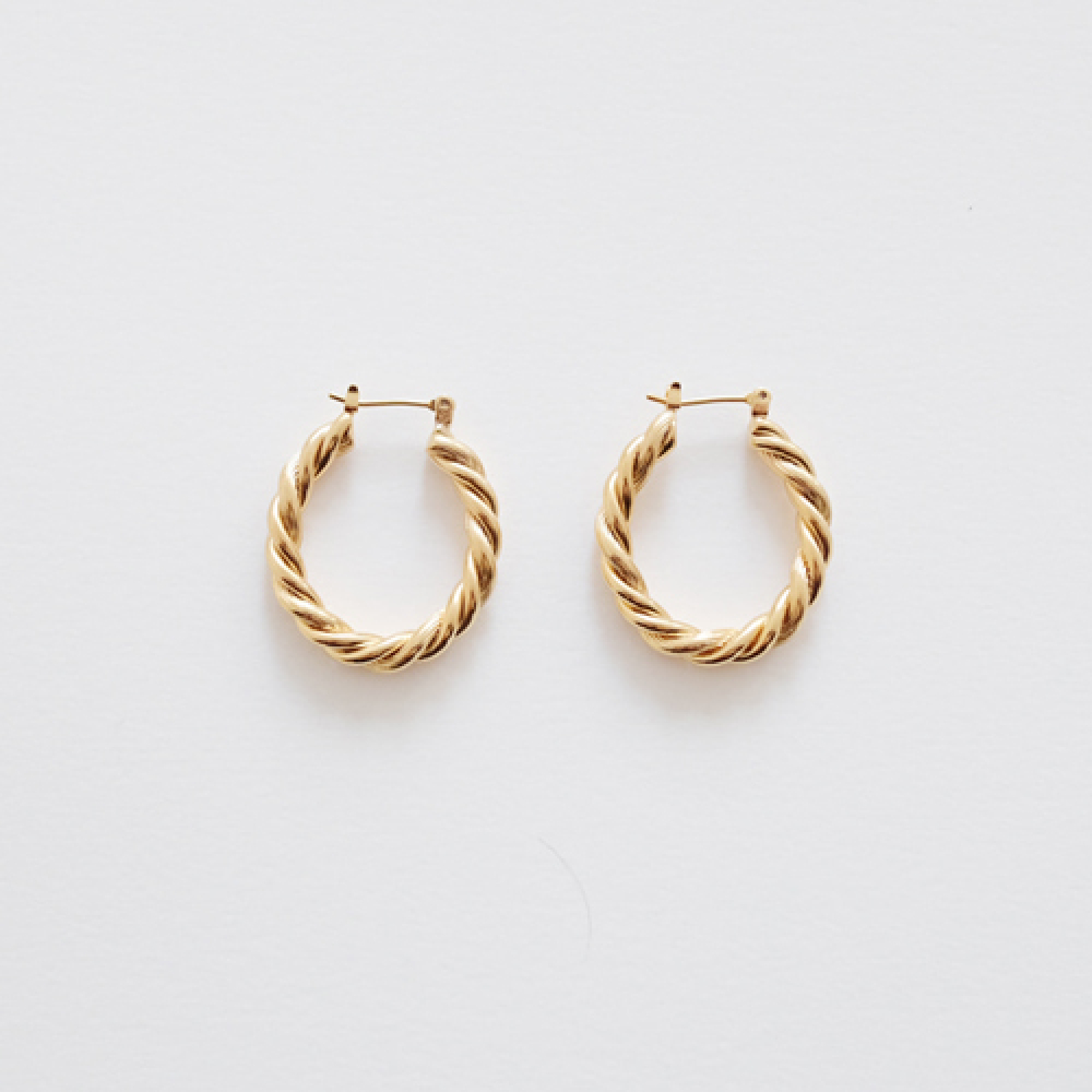 [비베] Bold Twist Earring