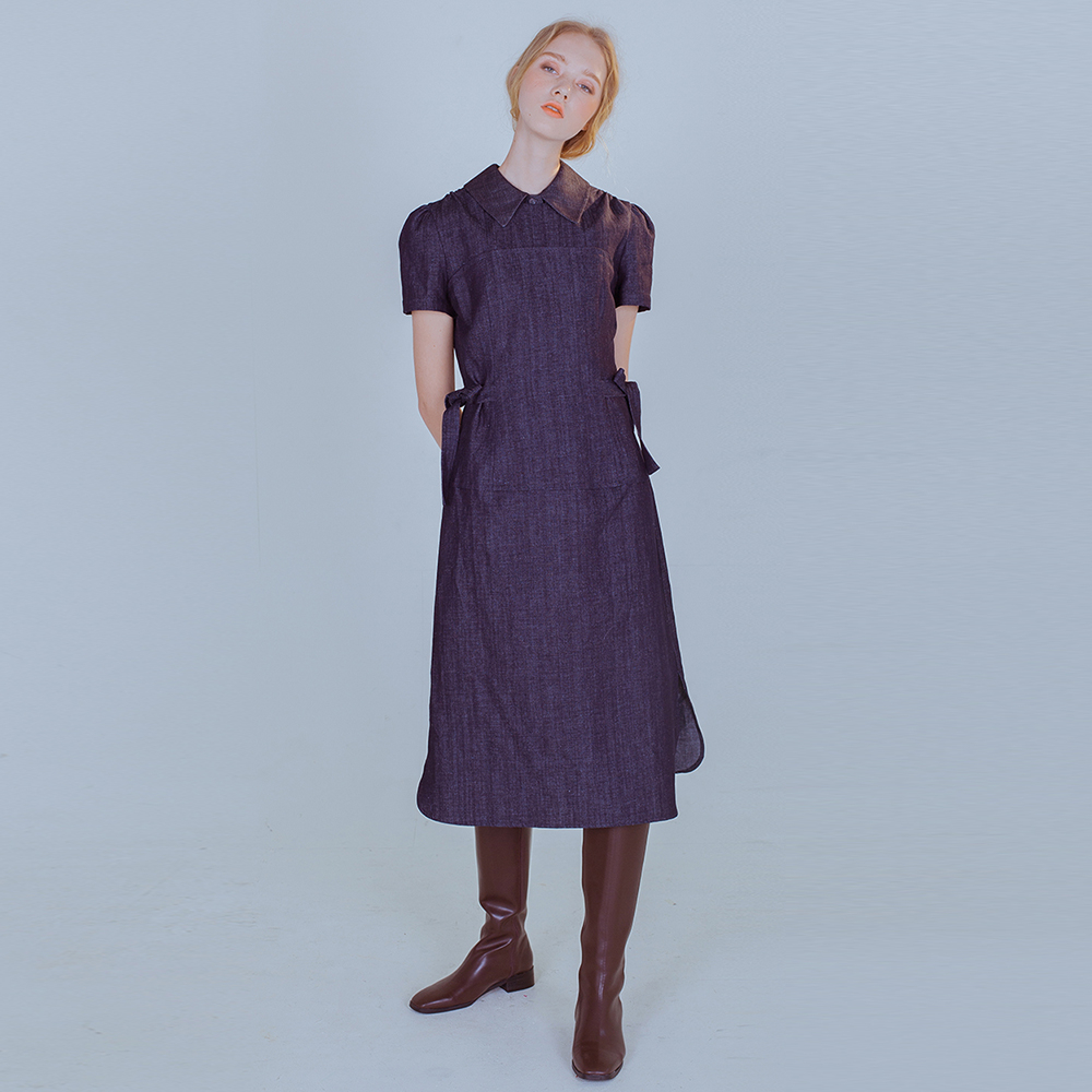 [PHILOCALY] Denim layered dress set