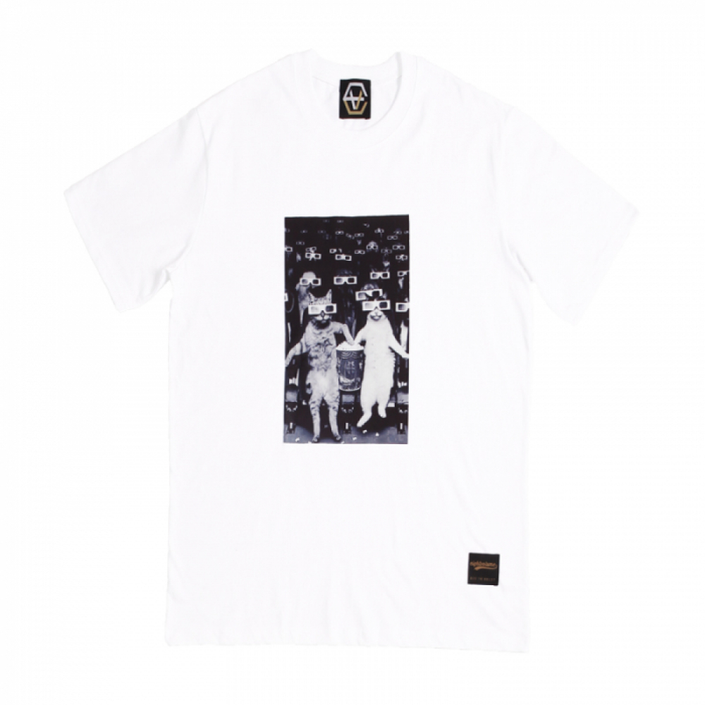 [에잇볼륨] EV Cat Cinema Tee (White)