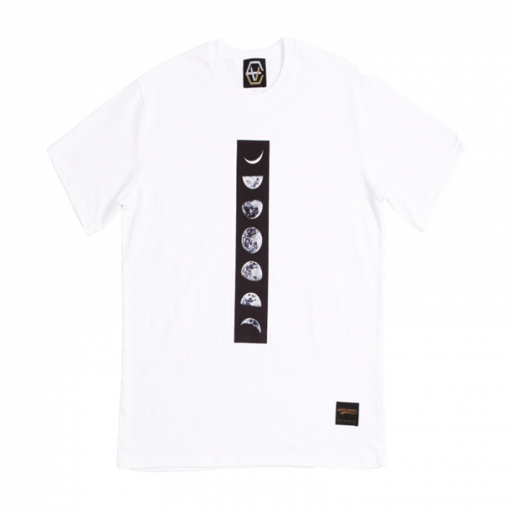 [에잇볼륨] EV Moon Phase Tee (White)