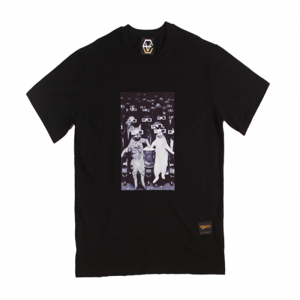 [에잇볼륨] EV Cat Cinema Tee (Black)