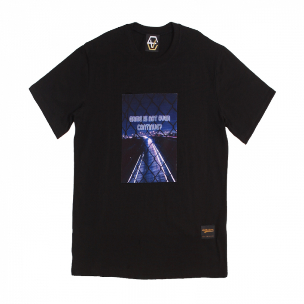 [에잇볼륨] EV Gameisnotover Tee (Black)