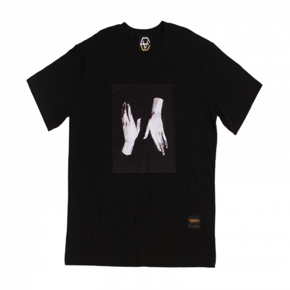 [에잇볼륨] EV Two Hands Tee (Black)