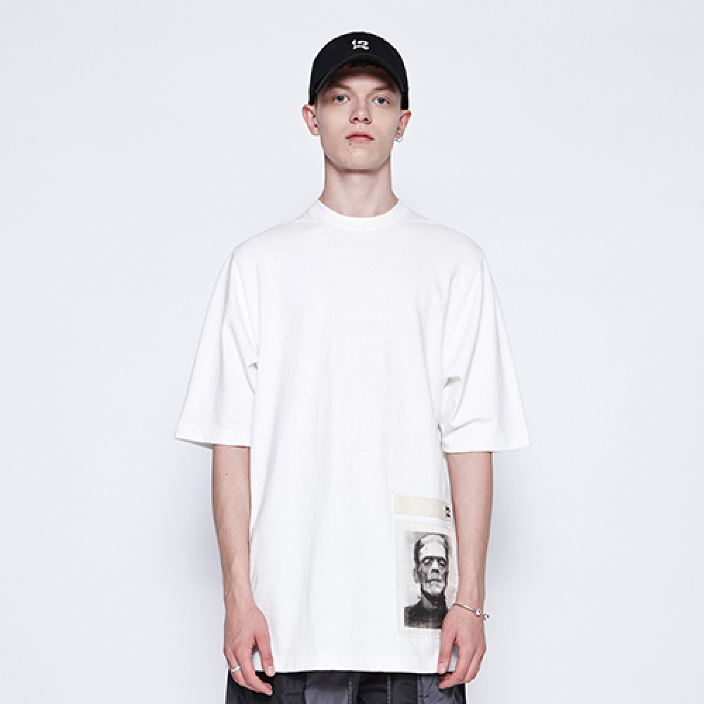[디바이디그낙] Frankenstein Basic T-Shirts (WH)