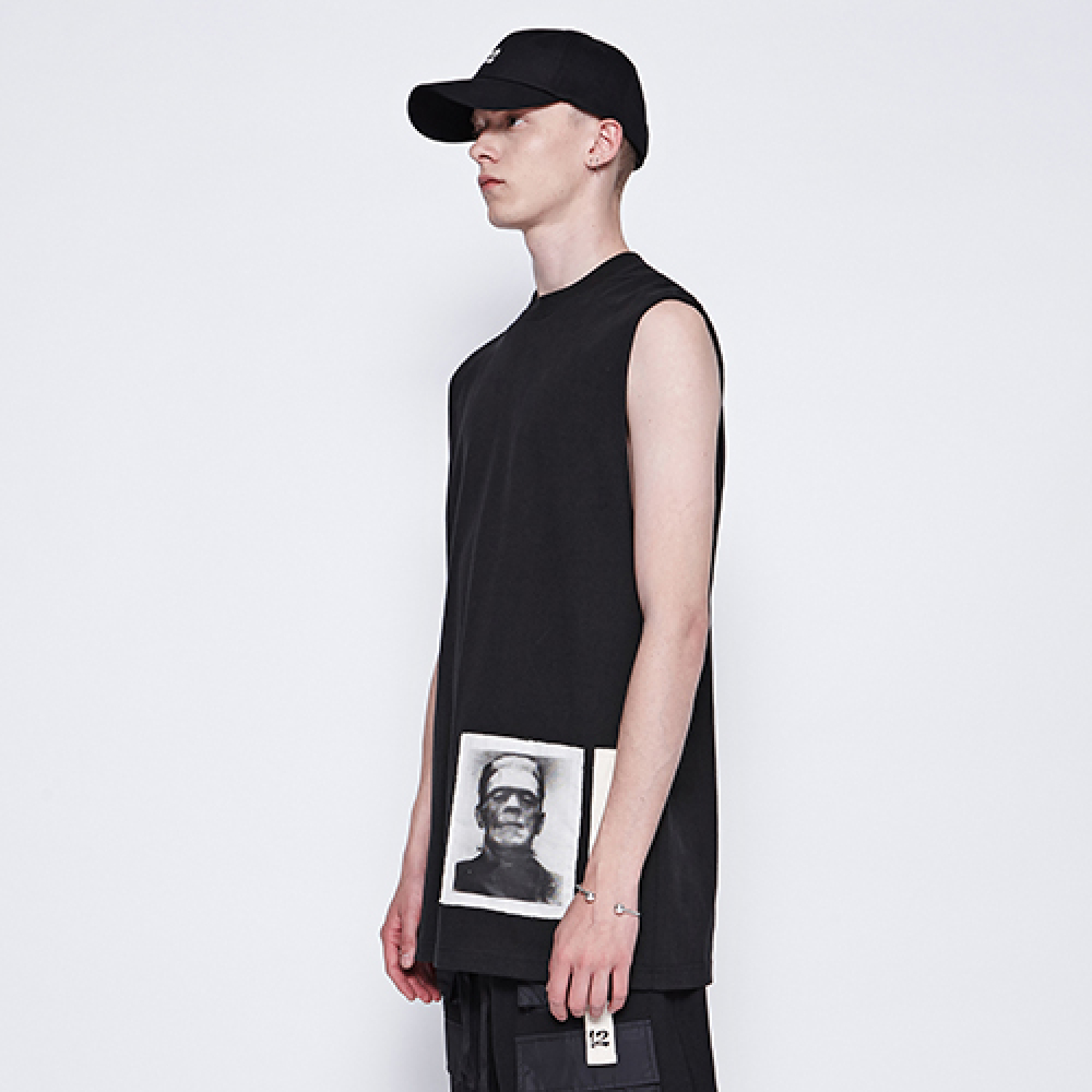 [디바이디그낙] Frankenstein Sleeveless T-Shirts (BK)
