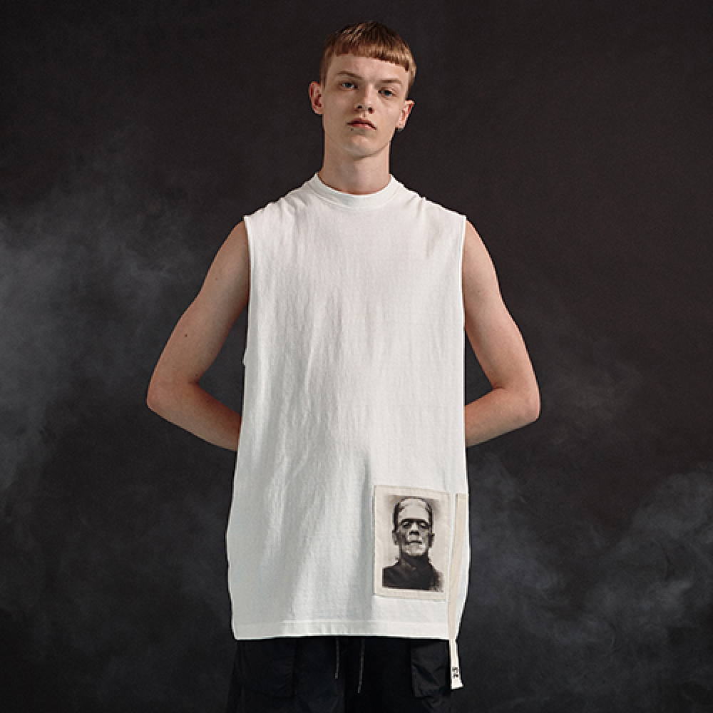 [디바이디그낙] Frankenstein Sleeveless T-Shirts (WH)