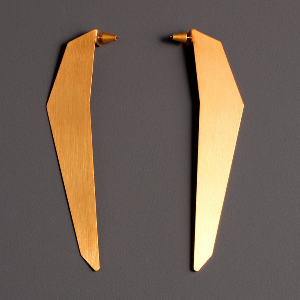 [모드곤] Giant golden iceberg earring