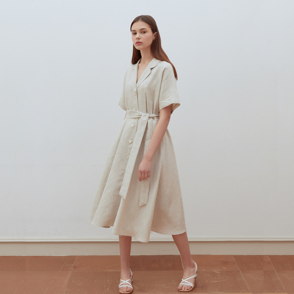 [ROSIER] 19summer holiday long dress beige