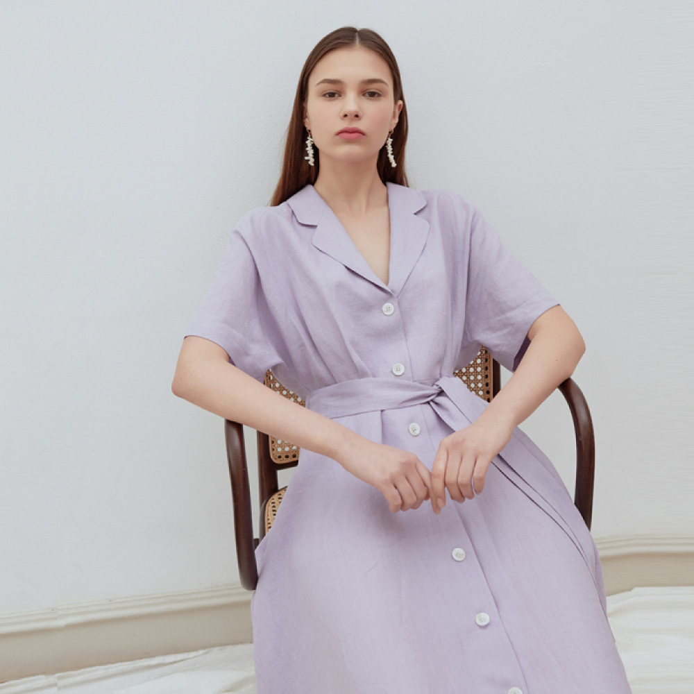 [ROSIER] 19summer holiday long dress purple