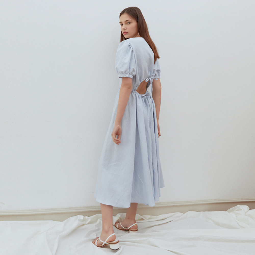 [ROSIER] 19summer resort dress blue