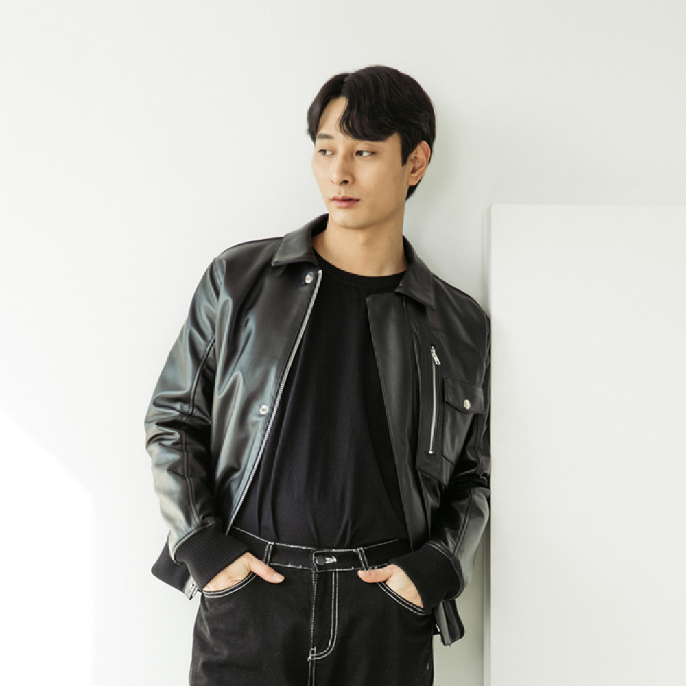 [스페로네] LAMB SKIN FLIGHT JACKET [BLACK]