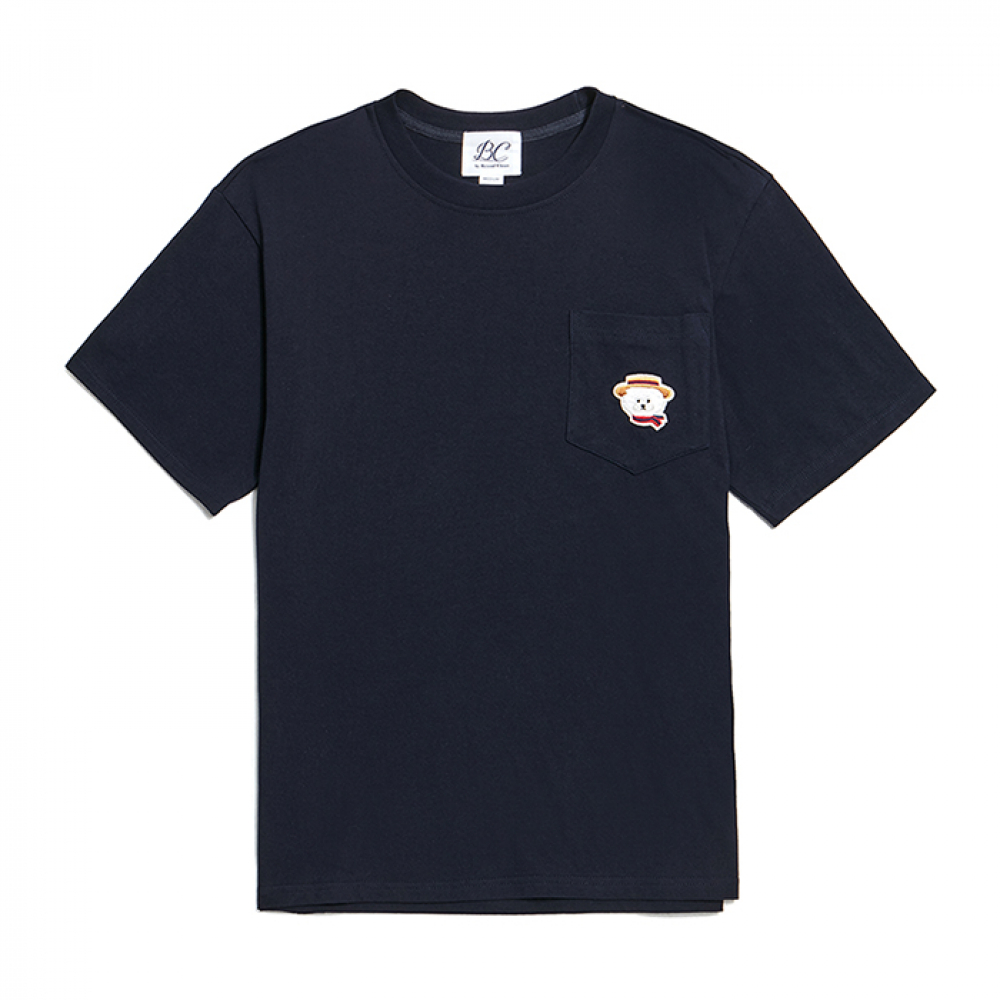 ILP PICNIC DOG POCKET 1/2 T-SHIRTS NAVY