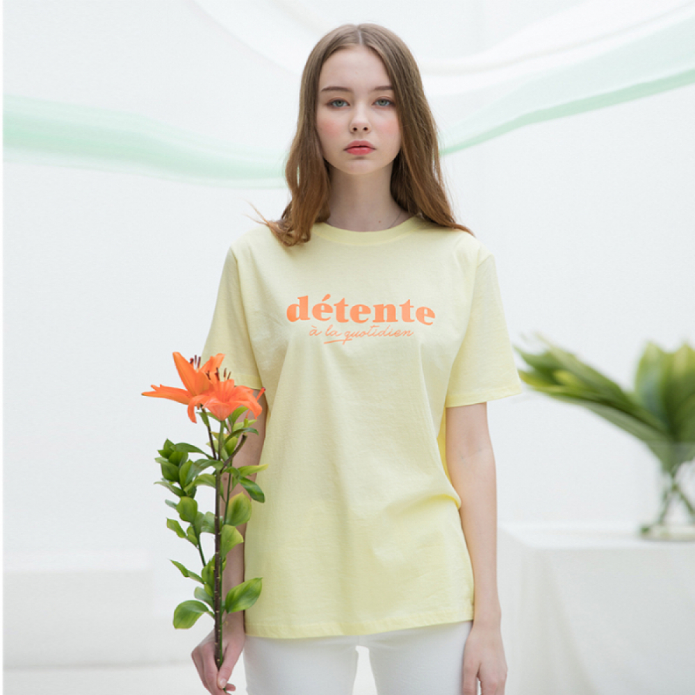 [클렛]DÉTENTE HALF T  YELLOW