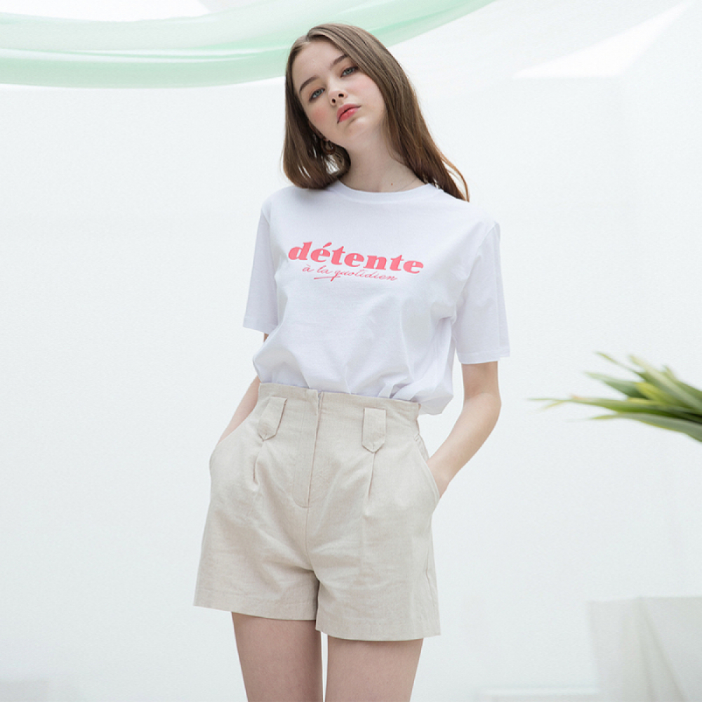 [클렛]DÉTENTE HALF T WHITE