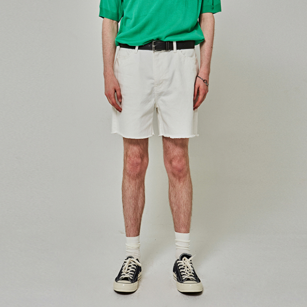[YAN13] CUTTING COTTON SHORTS_IVORY