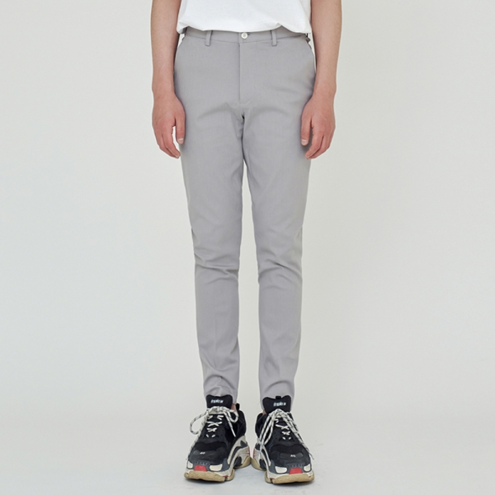 STRAIGHT FIT BANDING SLACKS GREY