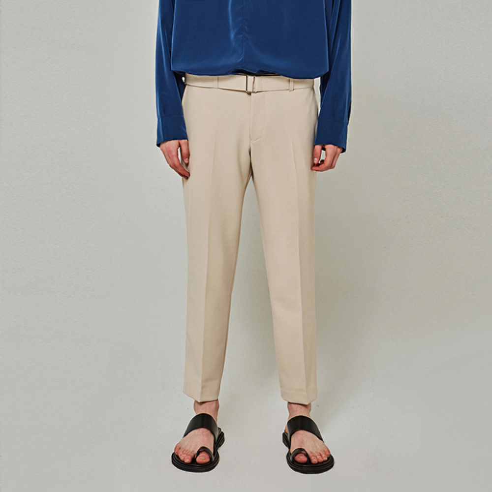 [YAN13] BT SLIM TAPERED SLACKS_LIGHT BEIGE