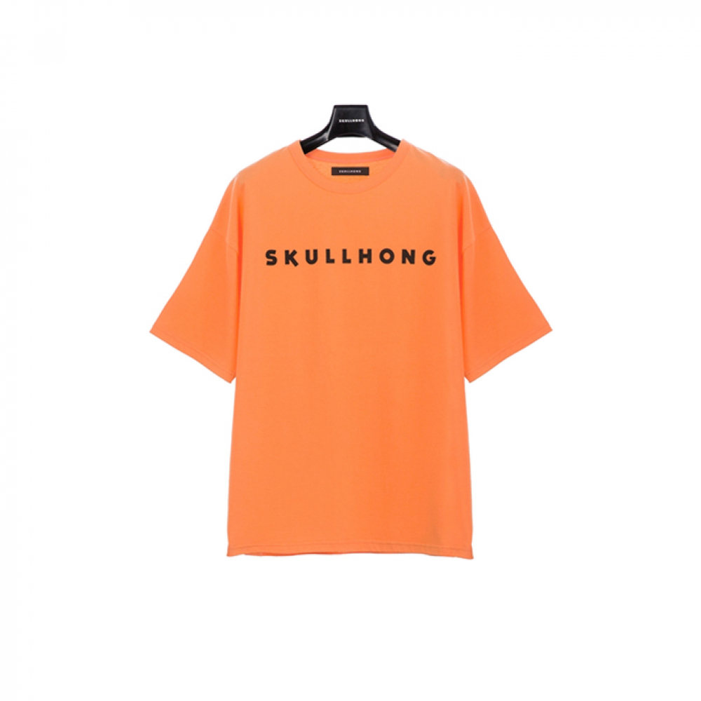 [스컬홍] LOGO T-SHIRT (ORANGE)