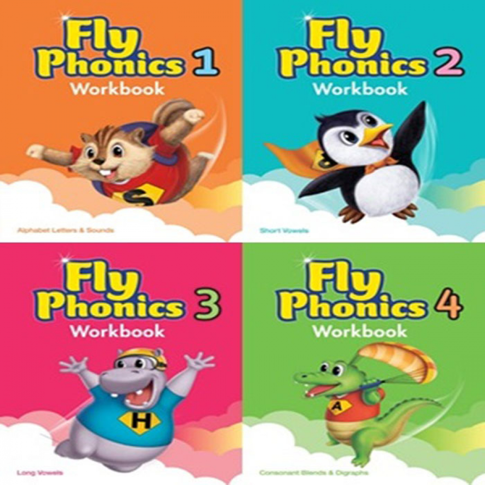 [Phonics]  [선택구매] 플라이파닉스 Fly Phonics 1,2,3,4 WB Work book