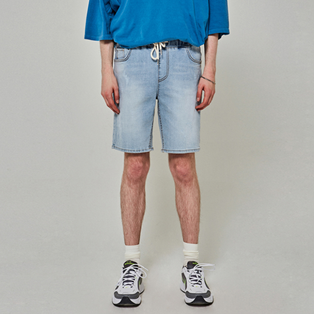 [얀써틴] LIGHT STONE DENIM SHORTS_DENIM