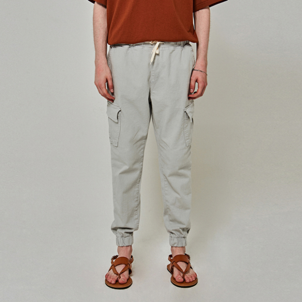 [얀써틴] STRING CARGO JOGGER PANTS_LIGHT BLUE