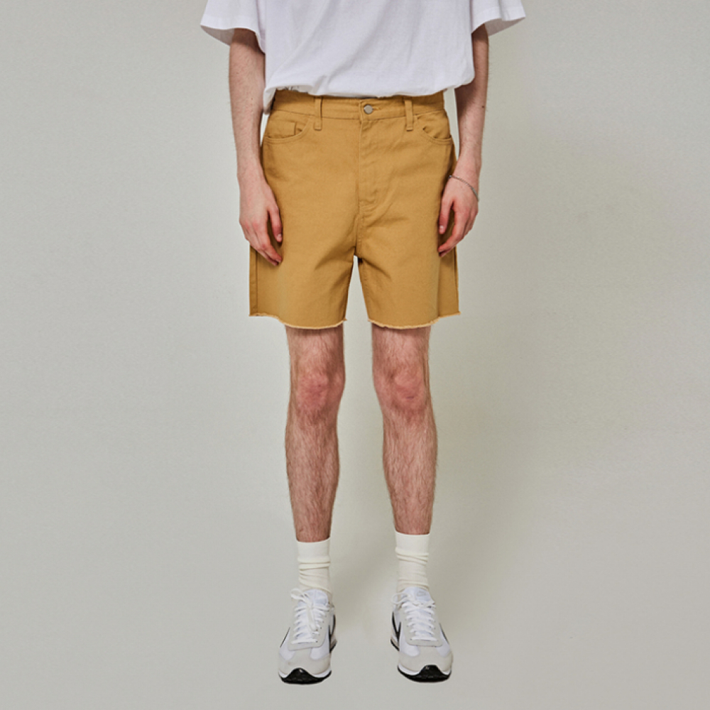 [얀써틴] CUTTING COTTON SHORTS_BEIGE
