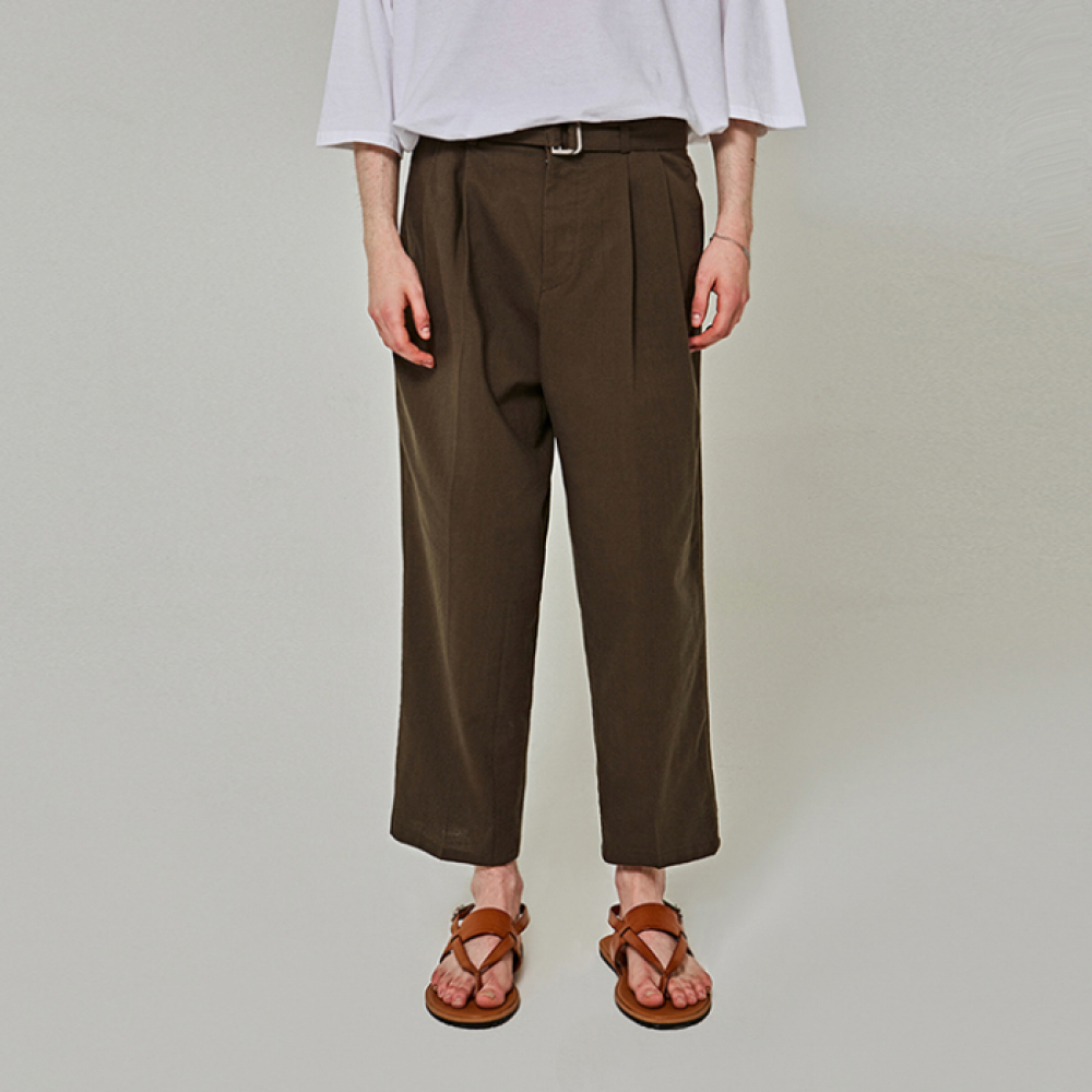 [얀써틴] WIDE BT COTTON PANTS_KHAKI