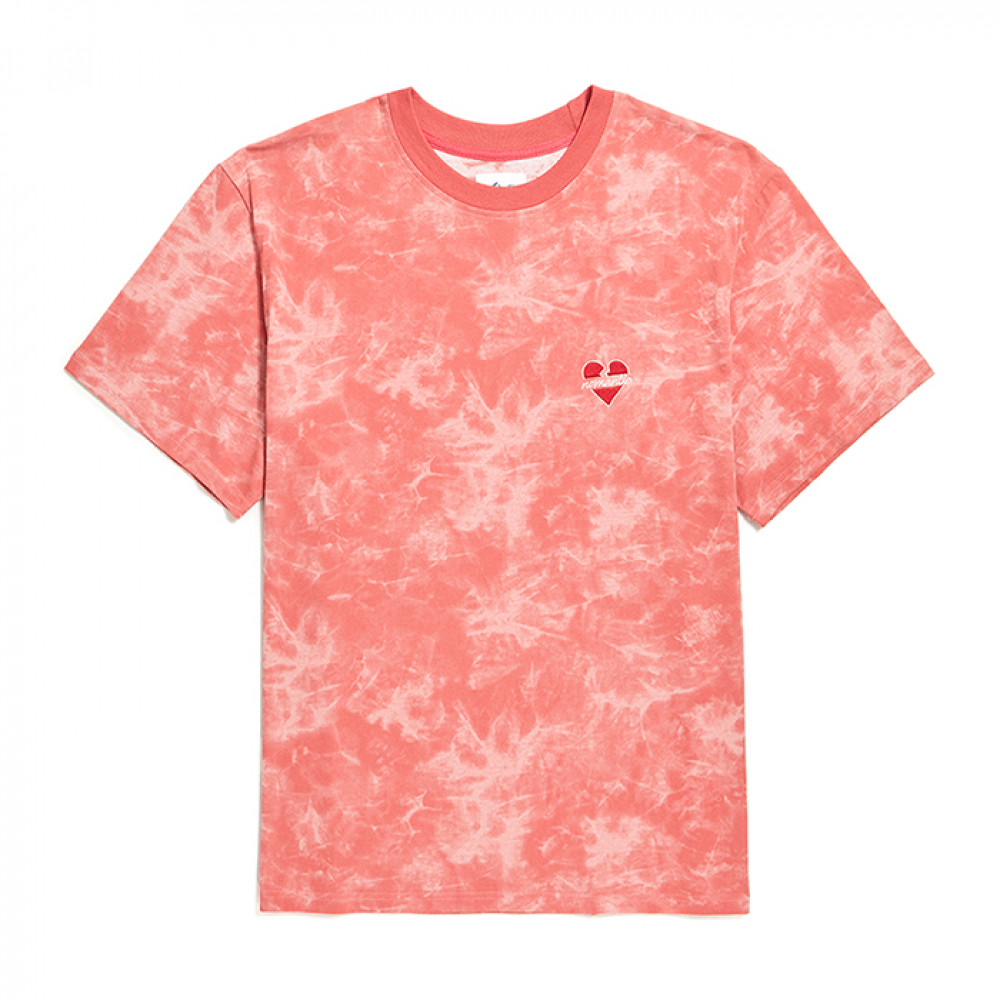 [비욘드클로젯] NOMANTIC SIGNATURE LOGO TIE-DYE 1/2 T-SHIRTS RED