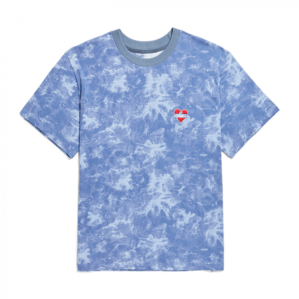 [비욘드클로젯] NOMANTIC SIGNATURE LOGO TIE-DYE 1/2 T-SHIRTS BLUE