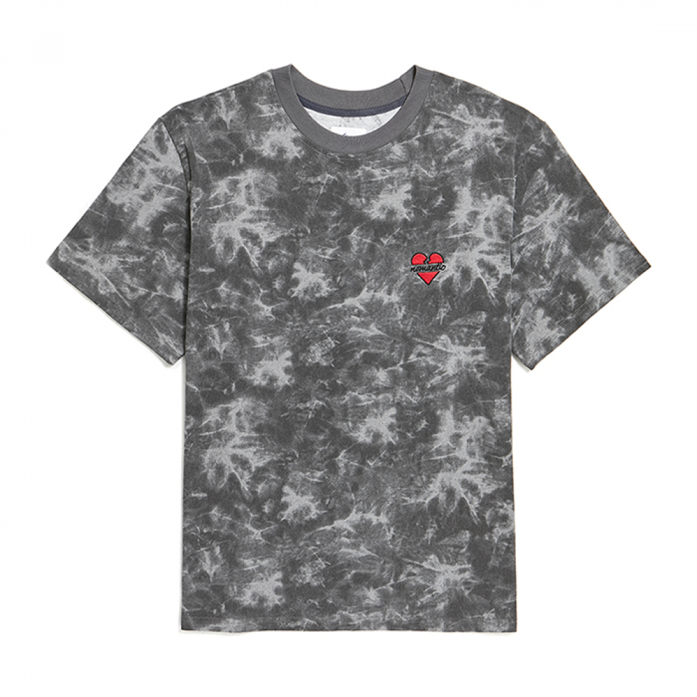[비욘드클로젯] NOMANTIC SIGNATURE LOGO TIE-DYE 1/2 T-SHIRTS BLACK