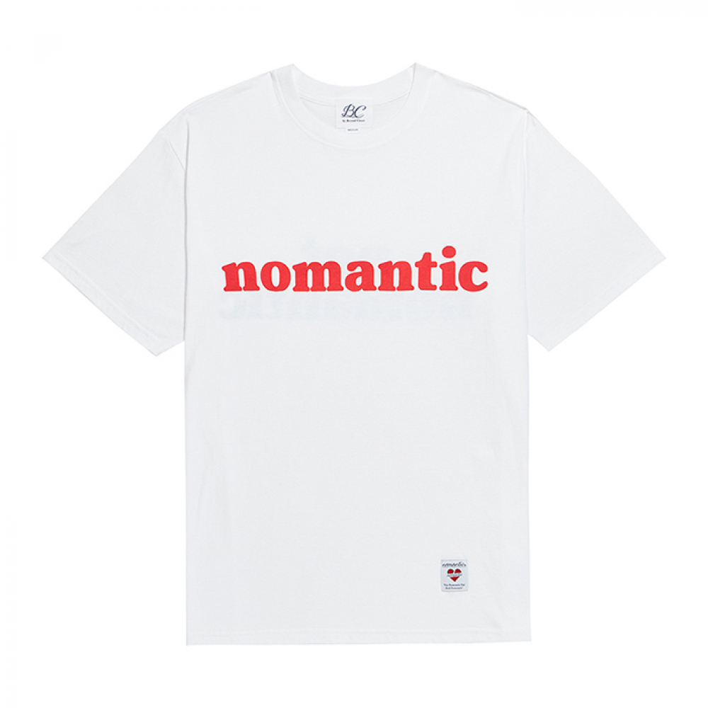 [비욘드클로젯] NOMANTIC NOT ROMANTIC 1/2 T-SHIRTS WHITE