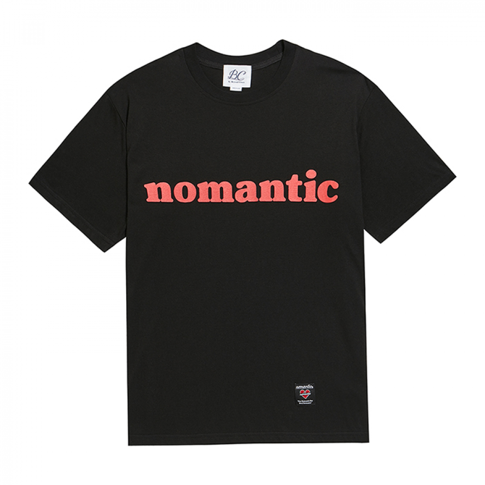 [비욘드클로젯] NOMANTIC NOT ROMANTIC 1/2 T-SHIRTS BLACK