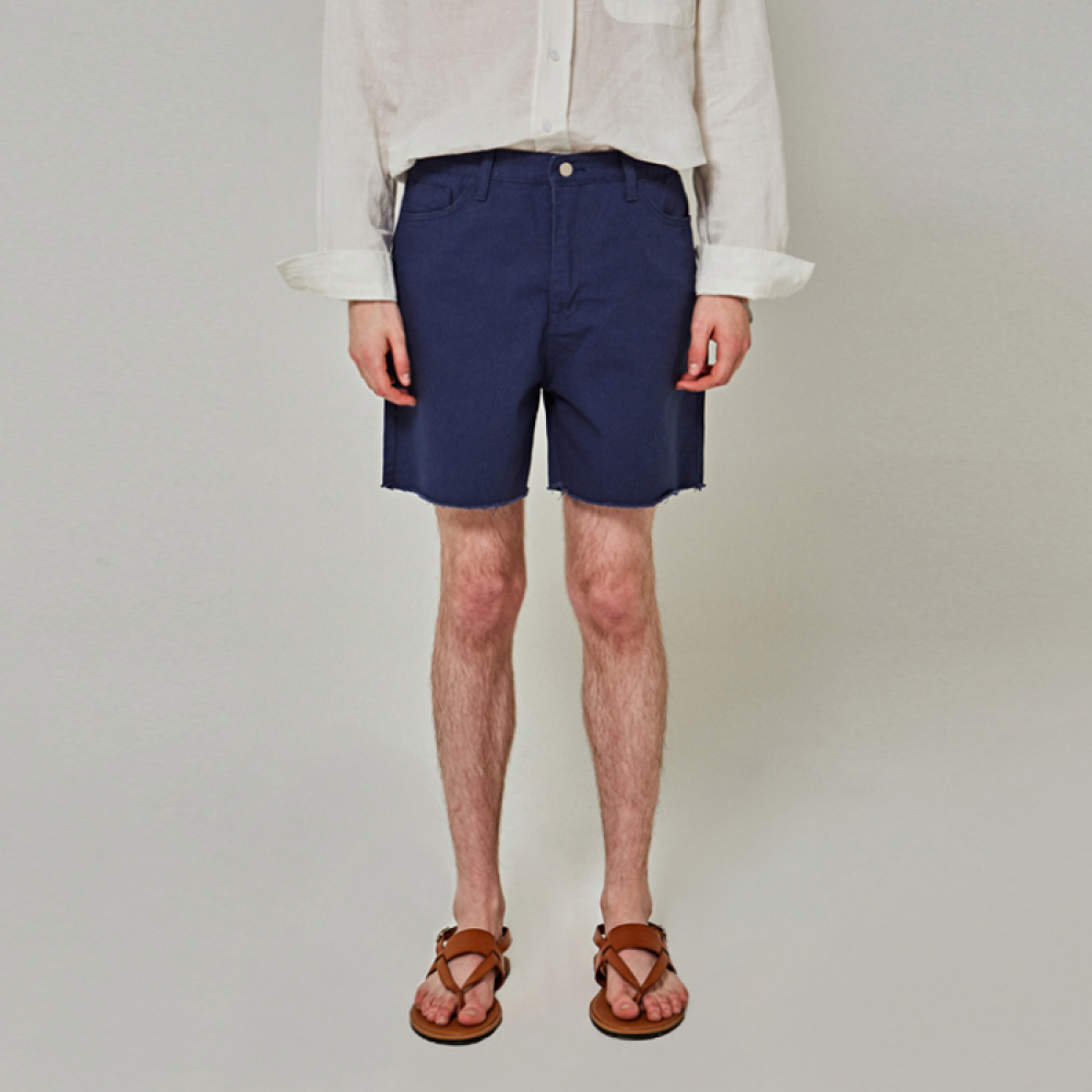 [얀써틴] CUTTING COTTON SHORTS_NAVY
